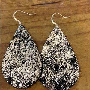 Black Leather Earrings
